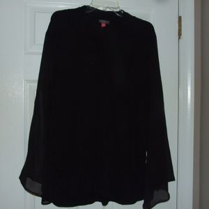 Vince Camuto Plus Size 3X Top Sheer Bell Sleeves